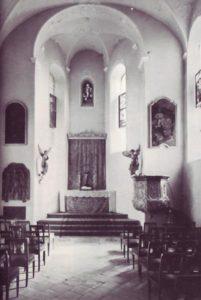 Blick in den Chor der Langensteiner Schlosskapelle